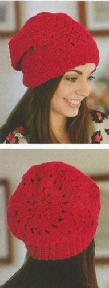 3 Gorros de Mujer tejidos a Crochet paso a paso