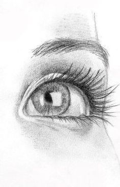 Intimidating eyes sketch