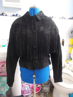 Beautiful Real Leather Tasselled Jacket made in England Cow Girl, Rock Chick, Retro Clothing, Yarn Bombing, Period Costumes, Leather Tassel, Retro Outfits, Steam Punk, Hippy