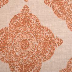 John Robshaw - Duralee Fabrics - 21038 - 107 Terracotta - Price Per Yard: $47.99 #Block #print #hand
