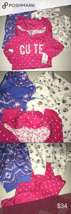 Three, one piece outfits NWT Size 18 months carter Three, one piece outfits NWT Size 18 months carters Carter's One Pieces