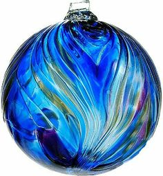 Wiccan Moonsong: Kitras Art Glass Winter Solstice Feather Witch Ball