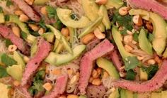 Steak, Avocado, and Rice Noodle Salad Recipe :: YummyMummyClub.ca