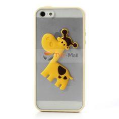 Cute 3D #giraffe TPU + PC Hybrid Case for #iPhone 5