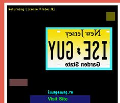 Returning license plates nj 163317 - The Best Image Search