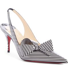577124c7a9bd Christian Louboutin Clare Bow Slingback Pumps Fancy Shoes