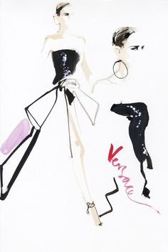 David Downton's Illustrated Couture