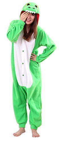 720cb4b700 Amazon.com  Honeystore Unisex New Dinosaur Animal Cosplay Costume One Piece  Pajama Halloween Blue S  Clothing