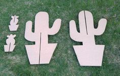 DIY Cardboard Cactus Party Decorations | www.sjwonderlandz.com