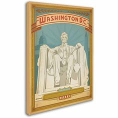 Trademark Fine Art Washington DC Canvas Art by Anderson Design Group, Size: 14 x 19, Multicolor