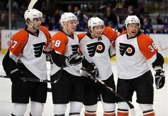 Some would say that the Philadelphia Flyers are the deepest team in the NHL. Flyers Hockey, Ice Hockey Teams, Hockey Games, Hockey Players, Sports Teams, Philadelphia Flyers Tickets, Fly Guy, Home Team, Nhl