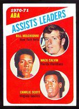 1971 72 TOPPS BASKETBALL 151 Bill Melchionni Mack Calvin Scott NM ABA LEADERS