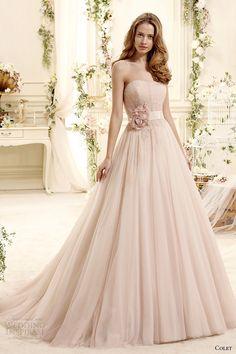 colet bridal 2015 style 20 coab15306pk strapless blush color a line wedding dress