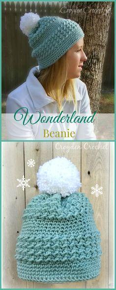 Free Crochet Pattern - Wonderland Beanie on Croydencrochet.com