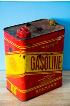 Stancan metal gasoline canister by PirateBrit on Etsy, $35.00