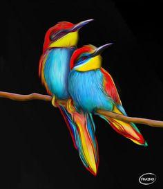 Music Garden, Funny Birds, Embedded Image Permalink, Fine Art, Twitter, Colors, Artist, Artwork, Nature