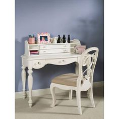 Lea 134-341 Vintage Boutique Vanity Kid Desk in Vintage White
