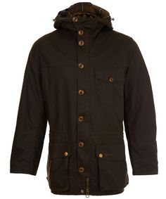 Olive Galashields waxed jacket from the Barbour collection.  Invest in Barbour's signature waxed cotton for a jacket that will stand the test of time. Available at Liberty.co.uk, £270