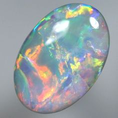 SOLID SEMI BLACK OPAL Very pretty, rolling flashes of full on colour | AussieTreasureChest.com.au