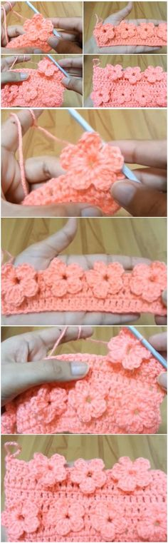 VIDEO: Learn To Crochet Flower Stitch -- Click on sentence that says to download video. Follow instructions on video. There is no audio and no written instructions. Video is clear.
