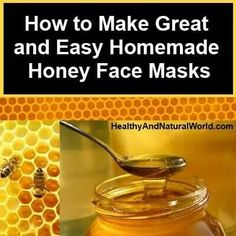 Homeade honey face masks