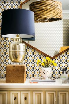 cute lamp and wallpaper as well as composition of photo