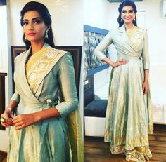 Sonam Kapoor for her film Prem Ratan Dhan Paayo Promotion at Comedy Nights with Kapil in 7 Couture by Rahul Mishra