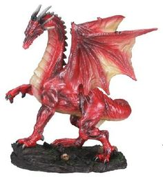 Small Red Midnight Dragon Mythical Statue Figurine