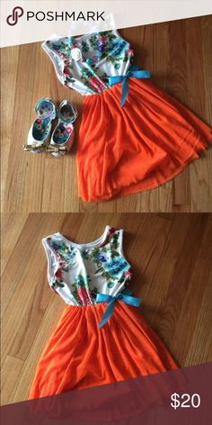 Super chic Spring Dress New, spring dress. Dress this up with cute flats and a bubble gum necklace. Make any little girl feel like Royalty  Size 5 kids Dresses Casual
