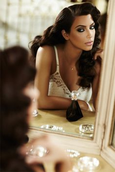 @kimkardashian looks amazing in this Old Hollywood Glamour shot. Get the look using Motives