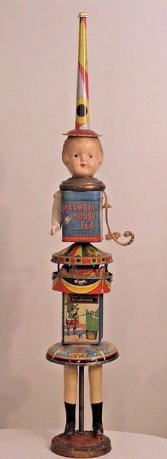 BILL FINKS -PRIMITIVE TWIG- Found Objects Doll Tower vintage! Valued at $1600! #ContemporaryArt