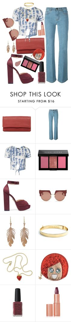 """""""Aerial View"""" by chelsofly on Polyvore featuring Liebeskind, Fendi, Topshop, Bobbi Brown Cosmetics, Charlotte Olympia, Marni, Annette Ferdinandsen, Eddie Borgo, Kenneth Jay Lane and Argento Antico"""