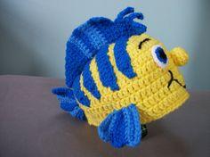 Crochet Flounder Like Hat by MamawsMadness on Etsy