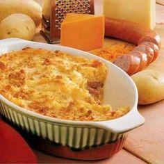 Smoked Sausage Potato Bake Recipe photo by Taste of Home                                                                                    ...