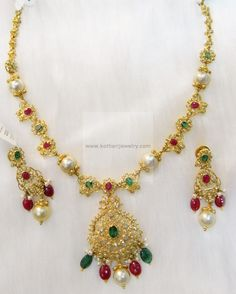 Necklaces / Harams - Gold Jewellery Necklaces / Harams (DJPMJ0003) at USD 2,525.44 And EURO 2,303.16