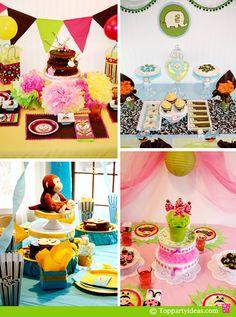 1st Birthday Party Themes - Mod Monkey, Owl Theme Party, Ladybug Party, Elephant Party Theme