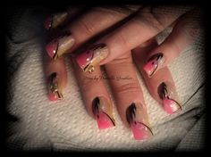 Pink & Yellow by DGauthier - Nail Art Gallery nailartgallery.nailsmag.com by Nails Magazine www.nailsmag.com #nailart