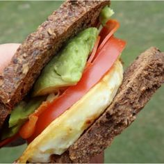 Egg and Avocado Sandwich | Here's What Real Healthy People Actually Eat For Lunch