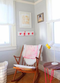 The cutest rocking chair nook there ever was.