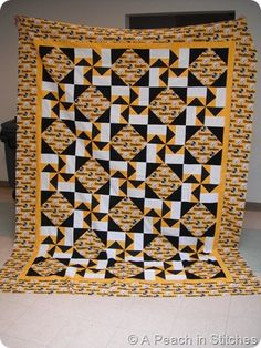 I am not a Steelers fan but I love this quilt!!