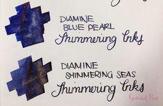 Ink Shot Preview Diamine Shimmer Inks (26)