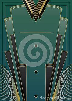 Fans Art Deco Background