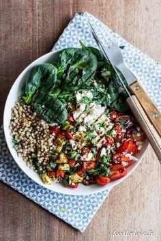 Plats Healthy, Plat Vegan, Gluten Free Recipes, Healthy Recipes, Healthy Life, Healthy Eating, Rainbow Salad, Greens Recipe, Food Presentation