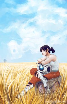 one of two Portal prints sold at this year's Fanime! THIS IS A COLLABORATION with my bff who is ridiculously fast at digital painting and fucking AMAZIN. if things were different -PRINT- Video Game Art, Video Games, Portal Wheatley, Portal Memes, Portal Art, Valve Games, Aperture Science, Fnaf Characters, You Monster