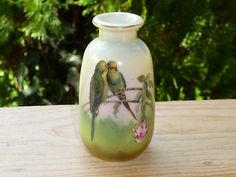 Royal Bayreuth Budgies vase
