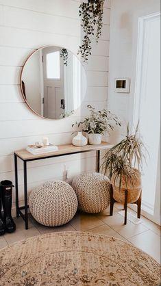 Closet Bench, Build A Closet, Entryway Closet, Closet Space, Boho Living Room, Home And Living, Living Room Decor, Living Room With Mirror, Bedroom Decor