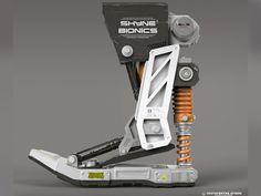 Bionic foot designed by Hristian Ivanov Shyne. Mechanical Design, Mechanical Engineering, Futuristic Technology, Technology Gadgets, Robot Parts, I Robot, Robot Concept Art, Robot Design, Cyberpunk Art