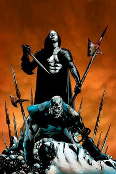 Dracula vs. Apocalypse.  Art by Jae Lee.