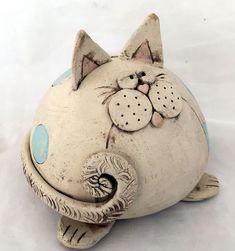 Drollige Katze - Keramikatelier im Rank