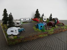 The Ultimate Camping Getaway HO scale diorama by EmmyNHiros